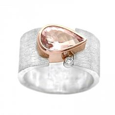morganite gravity ring