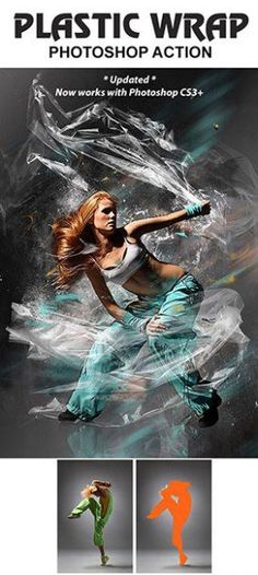 Plastic Wrap Photoshop Action – Usefulnext.com Photo Special Effects Actions from GraphicRiver