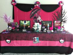 monster high Festa Monster High, Monster High Birthday, Monster High Party, Spa Birthday Parties, Halloween Party, Birthdays, Party Ideas, Girls, Style