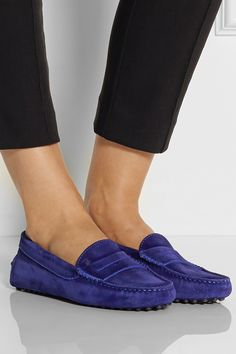 Tod's | Suede loafers | -- want want want ! #tods #shoes #flats