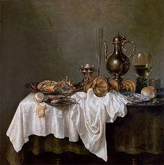 Claesz Heda | Breakfast with a Crab, 1648