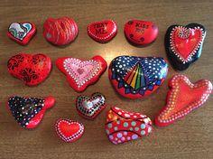Painted Heart Rocks 2V by GodsGlitter on Etsy