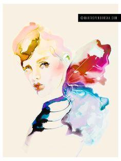 fashion-watercolor-illustration-bow2-marta-spendowska