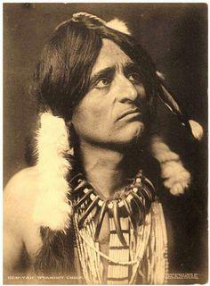 """Wyandot Chief """"Hen Tah"""".  1909"""