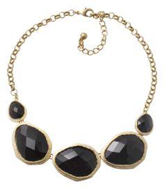 Bijou Brigitte necklace Black Stones