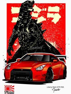 NISSAN GT-R POSTER JAPENESE SUPERCAR GARAGE  PICTURE PRINT LARGE HUGE