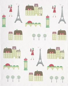 Wallpaper Design 'Paris' reference 2300022 - Roll Size: 10 metres x 53cms #Paper Moon #Wallpaper #Interior Design