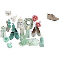 """""""mint kittens"""" by clinginghim on Polyvore"""