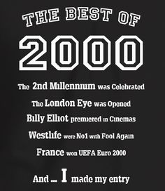 The Best of 2000 - 18th Birthday T Shirt for Men