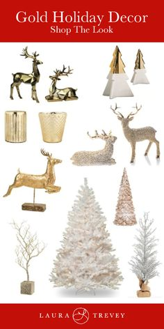 Gold Holiday Decor -