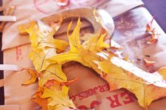 Leaf Initial | 10 DIY Ways To Add A Touch Of Fall To Your Decor