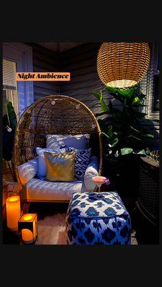 Apartment Balcony Decorating, Deck Decorating, Summer Decorating, Apartment Patios, Diy Bedroom Decor, Living Room Decor, Diy Home Decor, Bedroom Ideas, Small Balcony Decor