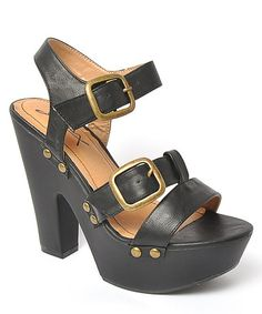 Take a look at this Black Jacqueline 16 Sandal by Gomax on #zulily today!