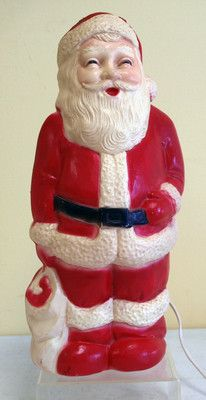 1940s Union blow mold light up Santa