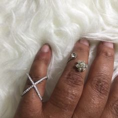 .925 Sterling Silver X CZ Ring .925 sterling silver X CZ ring. Muse Refined Jewelry Rings