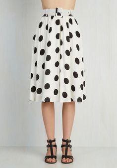 I Spot So Skirt. When your pals get a peek of this polka-dotted skirt, theyll name it your sweetest look, just as you suspected. #gold #prom #modcloth