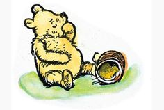 So he sat down and took the top off his jar of honey. And he began to eat. - Winnie-the-Pooh, 1926
