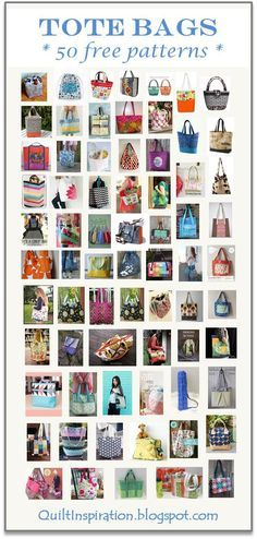 Quilt Inspiration: Free pattern day: Tote bags ! Updated June 2016 with more…