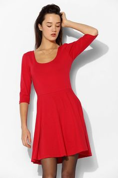a2300ba7a27b Red Skater Dress by Sparkle & Fade. Buy for $19 from Urban Outfitters Red  Skater
