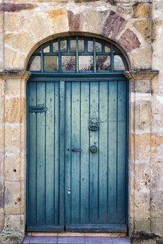 Door Print Door Photography Teal Blue French by GCFPhotography