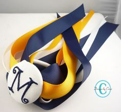 Personalized Ponytail Hair Streamer Bow Initial by hellodesigns, $8.00