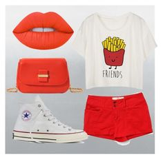 """""""Fries+Ketchup"""" by geekypenguinqueen ❤ liked on Polyvore featuring Bella Dahl, Converse and See by Chloé"""
