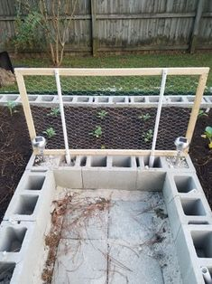 Build a Concrete Block Garden for Food and Memories: 10 Steps (with Pictures) Garden Ideas Concrete Blocks, Raised Garden Beds Cinder Blocks, Concrete Garden Bench, Garden Blocks, Garden Pavers, Cinder Block Garden, Cement Garden, Building A Raised Garden, Raised Beds