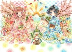 Anime Art Girl, Manga Art, Manga Anime, Anime Girls, Kawaii Art, Kawaii Anime, Anime Flower, Samurai, Devian Art