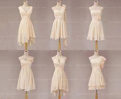 Short bridesmaid dress chiffon bridesmaid dress by sposadress, $98.00