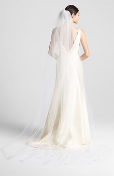 Wedding Belles New York 'Orchid' Cathedral Veil available at #Nordstrom