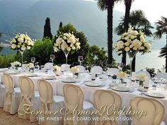 Lake Como wedding at Villa Balbianello. Imperial table with beautiful lake views from the terrace of the Loggia Segrè. Event by www.foreveramoreweddings.com #balbianellowedding #romanticlakecomowedding #foreveramoreweddings