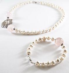 Colier Delicat cu Perle si Quartz (80 LEI la Quadrille.ro.breslo.ro) Pearl Necklace, Quartz, Bracelets, Jewelry, Bead, String Of Pearls, Jewlery, Jewerly, Schmuck
