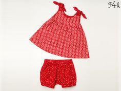 Schnittmuster für Baby Kleid und Pumphose Kombi. Ebook mit Nähanleitung. Mädchen, Schleifen, download von pattern4kids auf Etsy