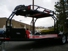 CA Custom Car Haulers & Trailers | Bear Trailersports Quad Trailer, Car Hauler Trailer, Trailer Plans, Trailers, Bend Tube, Tire Rack, Led Tail Lights, Water Tank, Custom Cars