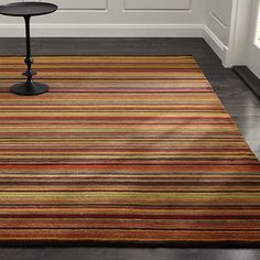 Gianni Rust Hand Knotted Wool Rug Crate and Barrel