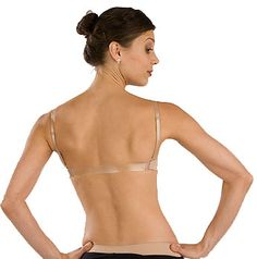 Clear Back Strap! Finally something so I can where backless shirts ...