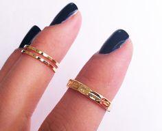 Gold upper knuckle ring
