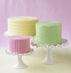 Buttercream cakes... simple idea to make buttercream more attractive