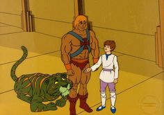 Animation Art:Production Cel, He-Man and the Masters of the Universe Production Cel andMaster Production Background Setups Group of 4 (Filmation, 1...(Total: 4 Original Art)