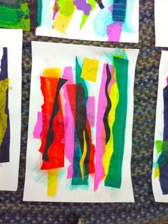 Matisse inspired collage with tissue paper