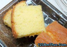 Hướng dẫn cách làm bánh bông lan bơ thơm ngon hấp dẫn cho bữa sáng cuối tuần của gia đình phần 1