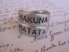 Fathers Day Hakuna matata ring Disney by giftforbestfriends, $8.00