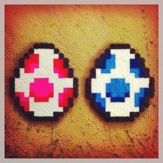 Bvv vvv.  #yoshi #eggs #mario #supermario #nes #nintendo #supermariobros #red #blue #awesome #perler #geeky #geekycrafts