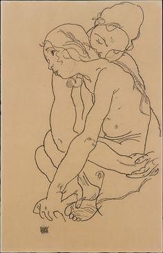 Me gusta mucho este artista, para poner un cuadro: Egon Schiele
