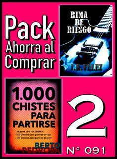 Pack Ahorra al Comprar 2 (Nº 091): 1000 Chistes para partirse & Rima de Riesgo https://play.google.com/store/books/details?id=Xd70CAAAQBAJ #poesía #poema #chistes #humor #ebook #GooglePlay #chistescortos #bromas  #juegosdepalabras #ahorro #dinero #descuento #oferta #rebaja #buenprecio