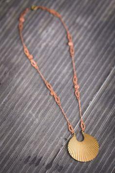 Art Deco Copper and Bronze Necklace