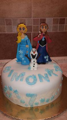 Frozen cake: Elsa, Anna & Olaf