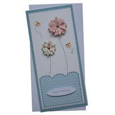 Handmade Flower Birthday Card £1.90