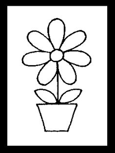 Cartoon of a black and white daisy flower royalty free vector diagram 3 flower potstissue ccuart Image collections