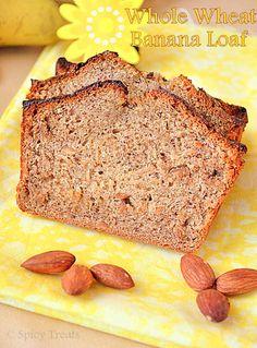 Spicy Treats: Whole Wheat Banana Loaf / Eggless Whole Wheat Banana Bread